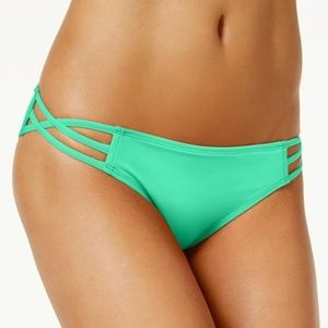Sundazed Stunner Aqua Strappy Bikini Bottoms M